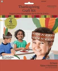 headbands with feathers thanksgiving craft kit 28 pack makes