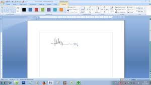 membuat tanda tangan digital gratis cara membuat tanda tangan di microsoft word youtube
