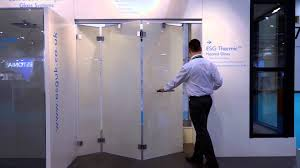 fire proof doors with glass bi folding frameless doors from esg featuring esg switchable lcd