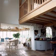 Open Plan Kitchen Flooring Ideas Open Plan Country Kitchen Dining Room With Mezzanine And Stone