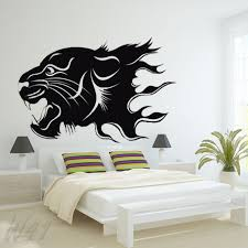 wall decals stickers home decor home furniture diy flame tiger large wall art decal vinyl sticker