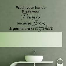 wall stickers quotes and sayings for bathroom promotion shop for wash your hands and say your prayers bathroom wall decal vinyl wall art sticker juses quote home decor 22