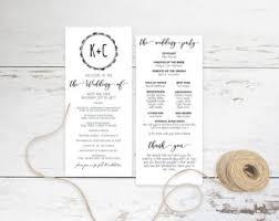 Wedding Bulletins Examples Wedding Program Template
