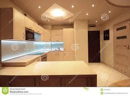 modern luxury kitchens modern luxury kitchen with white led lighting stock photo image