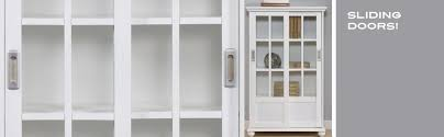 Storage Bookcase With Doors Altra 9448096 Bookcase With Sliding Glass Doors White