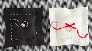 ring pillow ring bearer pillow ideas you can make on your own martha stewart