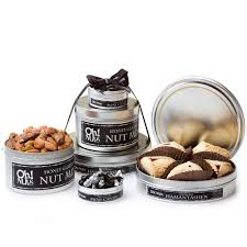 oh nuts purim baskets shalach manos gourmet tower of tins purim gift basket purim