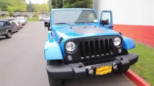 jeep polar edition wheels 2014 jeep wrangler sahara blue pearl altitude edition