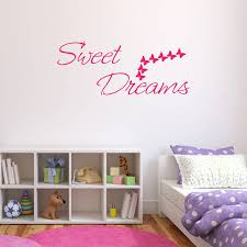 Bedroom Wall Stickers Uk Sweet Dreams Bedroom Wall Sticker By Mirrorin Notonthehighstreet Com