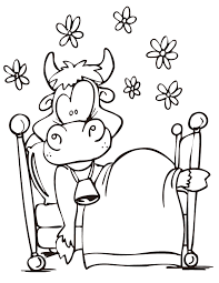 funny cow coloring page h u0026 m coloring pages