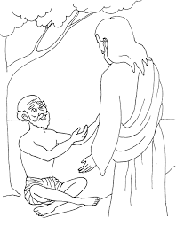 blind bartimaeus coloring page bible lessons for 2 u0027s pinterest