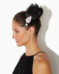 feather hair clip glam flapper feather hair clip accessories rsvp special