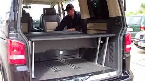 volkswagen caravelle trunk metzler multiflexboard rückbau liegefläche youtube