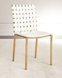 Woven Dining Chair Woven Leather Gold Legs Dining Chair