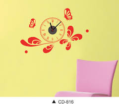 seller creative diy three dimensional wall sticker clock home cd 816 wallclock wall sticker best quality best