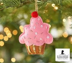 st jude cupcake ornament pottery barn