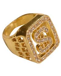 dollar ringgold rapper ring with diamante horror shop