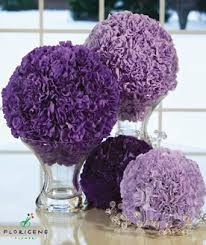 Carnation Flower Ball Centerpiece by Purple Carnations Can Make Really Great Wedding Flower Decor From