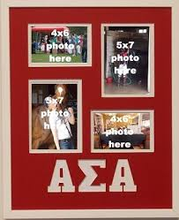 sorority picture frame sigma alpha sorority 16x20 collage photo mat and wall mount frame