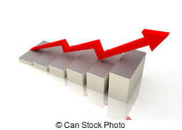 growing chart animated growing chart or grey and red bar graph business