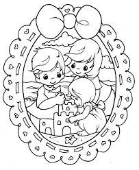printable 14 precious moments family coloring pages 7270 family