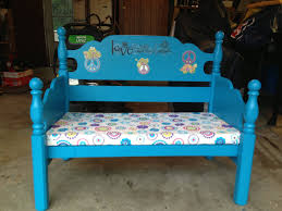 Used Bed Frames Made This Bench Out Of My Grandma U0027s Twin Bed Frame Used A 4 00