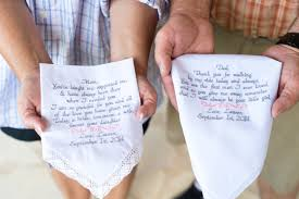 wedding gift to parents wedding gifts embroidered wedding handkerchiefs personalized
