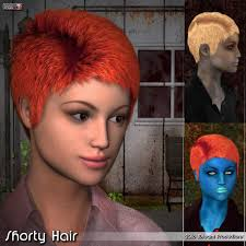 3dream by Shorty Hair 3d Figure Assets 3dream