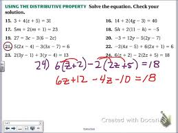 common core math solving multi step equations with distributive