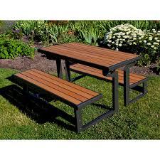lifetime foldable picnic table lifetime products wood grain convertible folding picnic table table