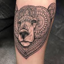 geometric bear tattoo on instagram