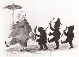 bruckner and his critics a drawing by otto böhler 1847 1913