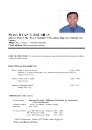 Smt Operator Resume My Resume Format