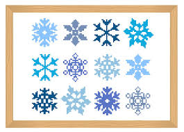 snowflake cross stitch pattern snowflake simple cross