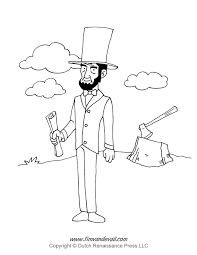 abraham lincoln coloring pages itgod