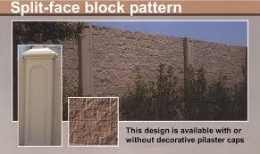 splitface block precast concrete wall system