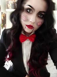 creepy jigsaw make up cosplay by kikimj deviantart com on