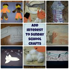scripture and add interest to sunday crafts
