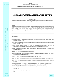 literature review on job commitment