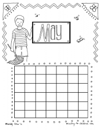 printable calendar coloring pages for kids preschool and