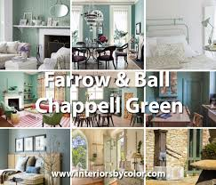 farrow u0026 ball chappell green interiors by color