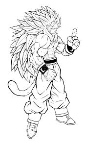 little goku super saiyan form in dragon ball z coloring page