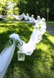 outside wedding decorations rustic outdoor wedding aisle decorations with jars and