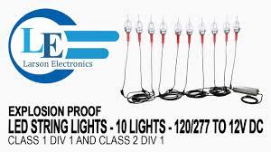 12v Led Light String by Explosion Proof Led String Lights 10 Lights 120 277 To 12v Dc