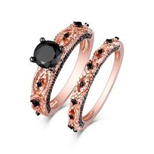 rose gold wedding ring sets lajerrio jewelry