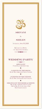 gold wedding programs indian wedding program book with ganesha and hindu wedding