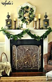 simple charming fireplace mantel decorating ideas with greenery