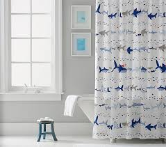 Shower Curtain Shark Parade Shower Curtain Pottery Barn