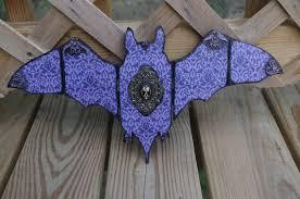 purple and black damask resin bat skull hand made wooden bat home