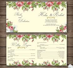 wedding program design template 20 wedding program templates sowela